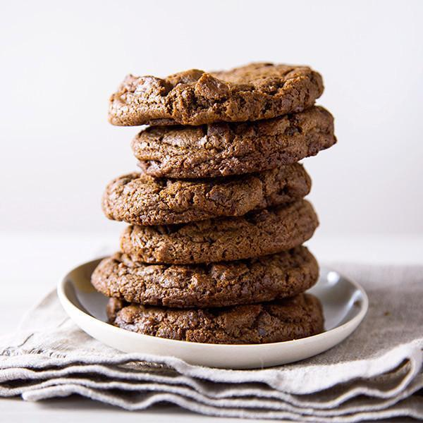 Double Chocolate Chip Cookie Gluten-free stack - Krumville Bake Shop