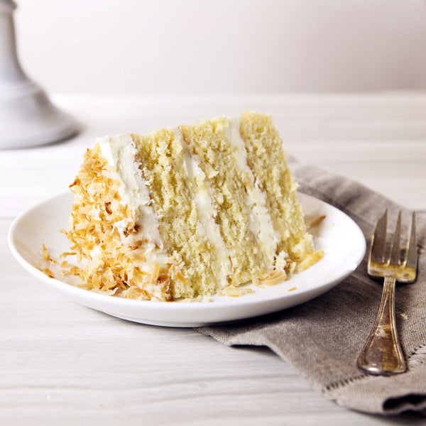Coconut Layer Cake slice Gluten-free - Krumville Bake Shop