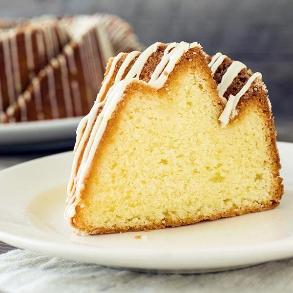 Slice of Lemon Bundt Cake - Gluten free - Krumville Bake Shop
