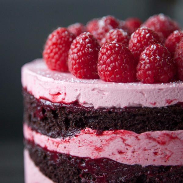 Raspberry Chocolate Cake Gluten-free - Krumville Bake Shop