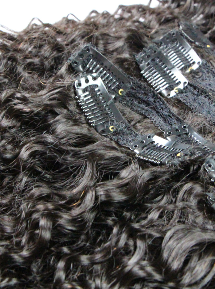 clip ins for natural hair, clip in extensions curly