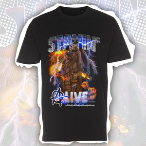 "45 Special x Print Helsinki Collection ""Stayin' aLive"" T-paita Musta"