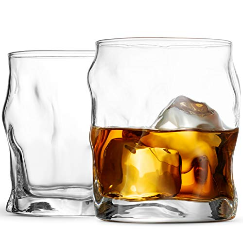 Bormioli Rocco Double Old Fashioned Whisky Glass Set - Italian Crafted Rocks Glasses - Set of 2 - Exquisite Cocktail Glasses For Whiskey, Bourbon, Scotch, Alcohol, Etc. - 14.¼ Oz Drinking Glasses - Finedine | The Best And Beyond