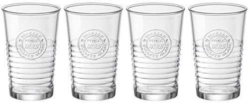 Bormioli Rocco 540620G10021990 Officina1825 Water Glass - 10.25 oz - 4 Piece Set, Clear - Finedine | The Best And Beyond