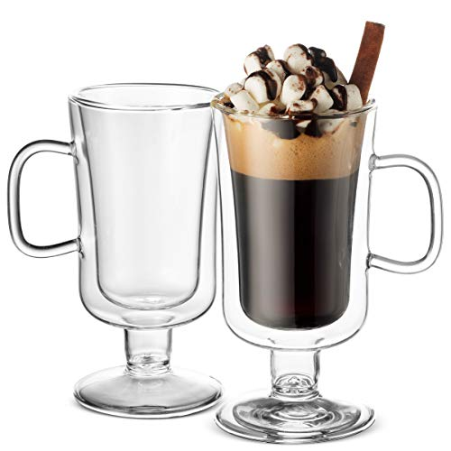 Double Walled Irish Coffee Mugs - 8½ Oz (2 Pack) - Finedine | The Best And Beyond