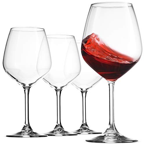 Italian Red Wine Glasses 18 Ounce (Set of 8) - Finedine | The Best And Beyond