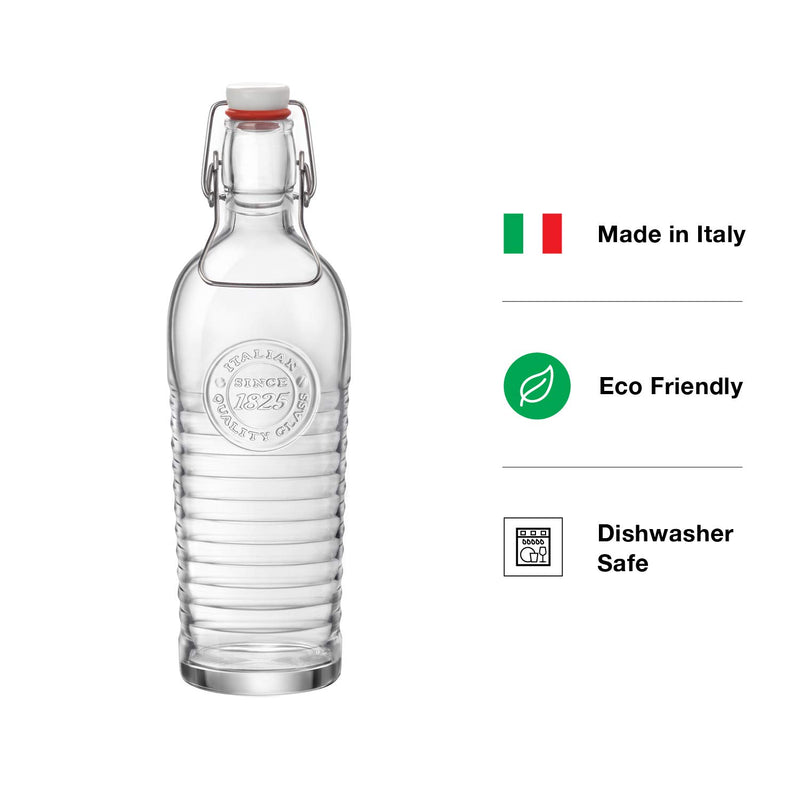 Officina 1825 Collection Italian Water Bottle | 40.5oz, Italian Glass Pitcher - Finedine | The Best And Beyond