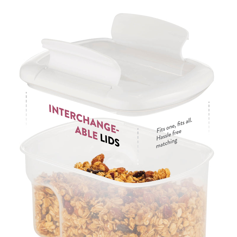 Airtight Food Storage Containers With Lids - BPA Free Plastic Kitchen Pantry Storage Containers
