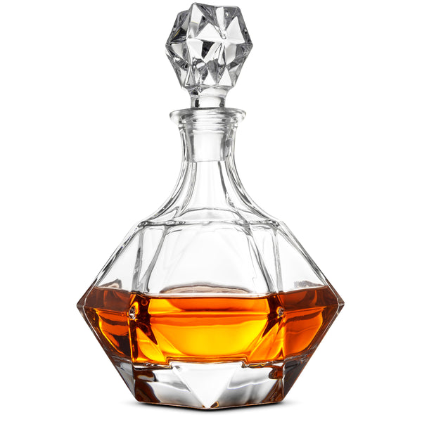 European Style Glass Whiskey Decanter & Liquor Decanter 30 Oz.- With Magnetic Gift Box