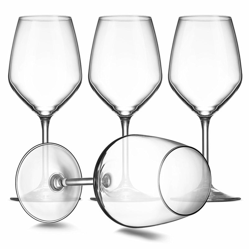 Italian White Wine Glasses - 15 Ounce - Lead Free - Shatter Resistant - Wine Glass Set of 8, Clear - Finedine | The Best And Beyond