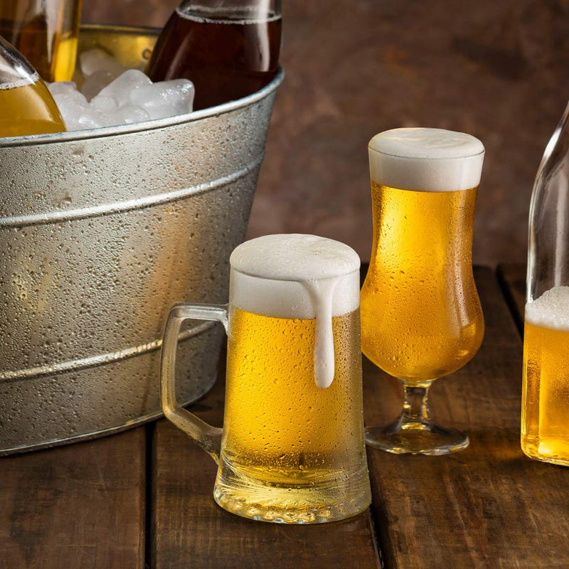 Large Beer Glasses with Handle 17.1/4 Ounce (set of 4) - Finedine | The Best And Beyond