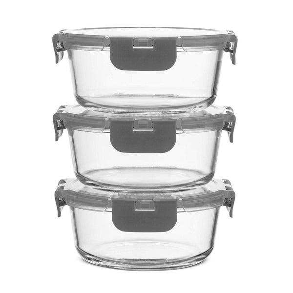 Superior Glass Round Meal Prep Containers -6pk (32oz) - Finedine | The Best And Beyond