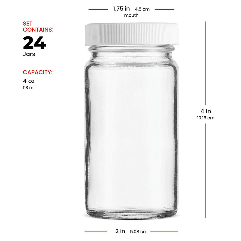 Small Glass Mason Jars 4 Ounce Mini Jars 24-Pack - Finedine | The Best And Beyond