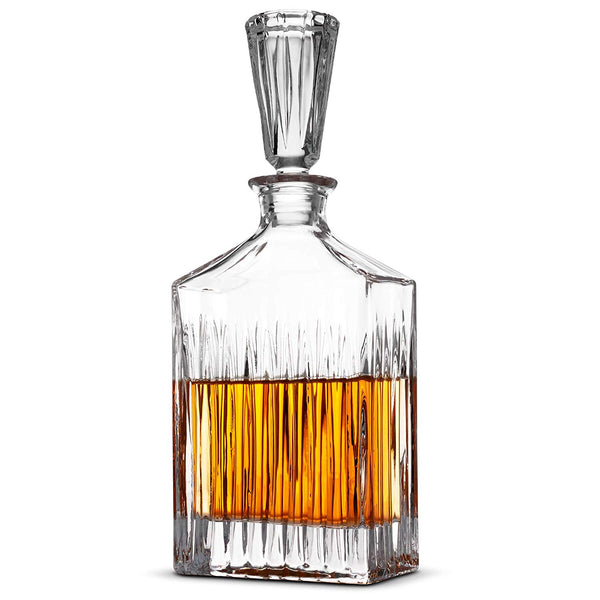 European Style Glass Whiskey Decanter & Liquor Decanter with Glass Stopper, 30 Oz.- With Magnetic Gift Box - Finedine | The Best And Beyond