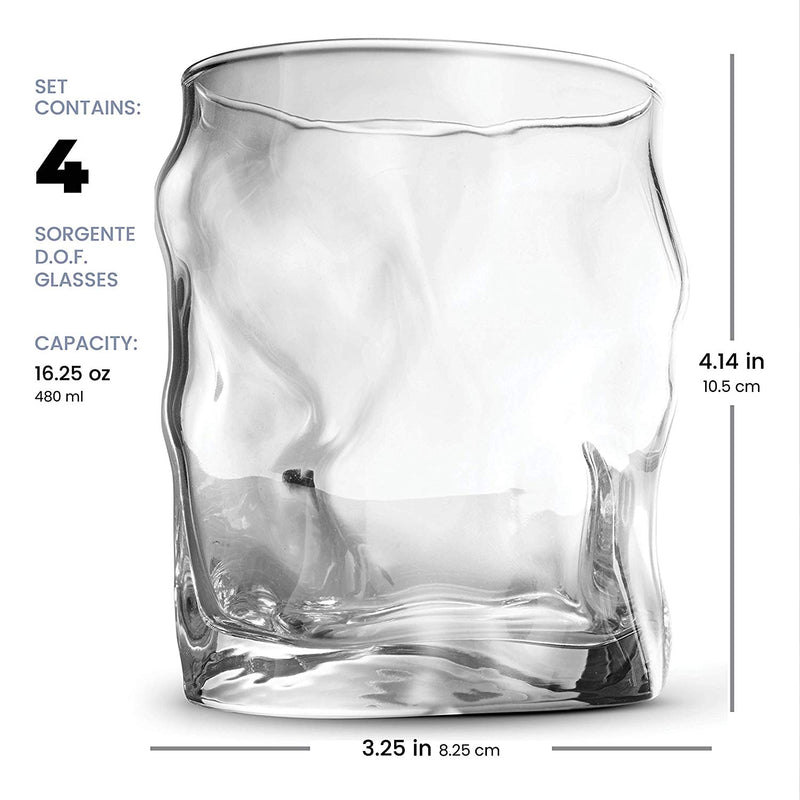 Whiskey Glass Set - 14.¼ Oz Double Old Fashioned Glass (Set of 4) - Finedine | The Best And Beyond