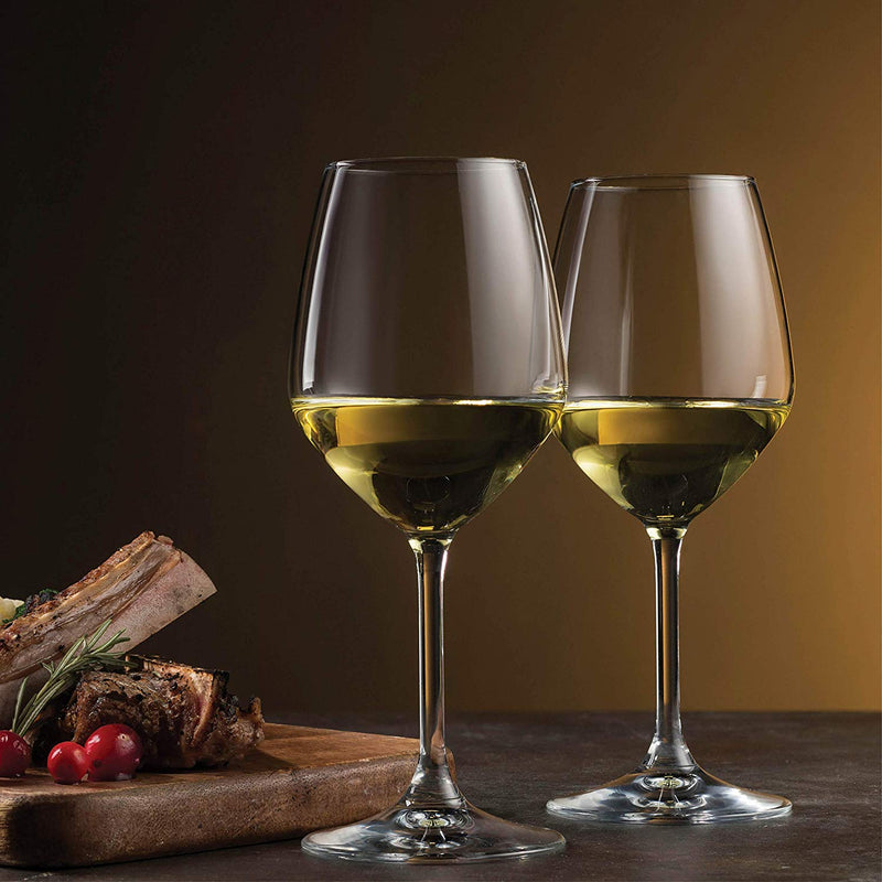 Italian White Wine Glasses 14 Ounce (Set of 8) - Finedine | The Best And Beyond
