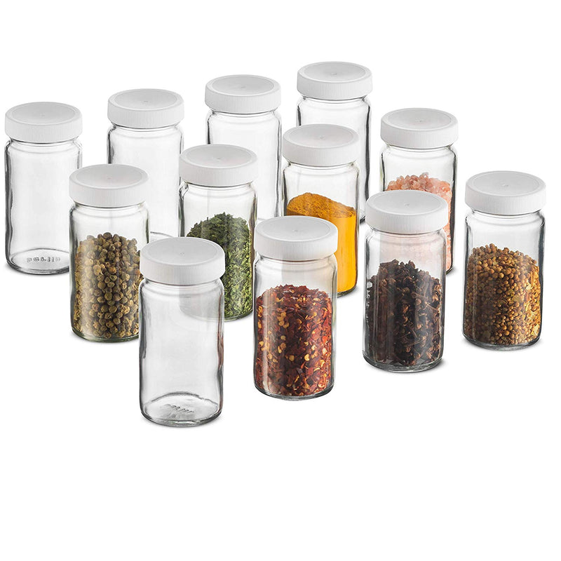 Small Glass Mason Jars 4 Ounce Mini Jars Full-Width Mouth-(12 Pack) - Finedine | The Best And Beyond