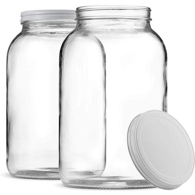 1-Gallon Glass Jar Wide Mouth with Airtight Metal Lid-Dishwasher Safe, - Finedine | The Best And Beyond