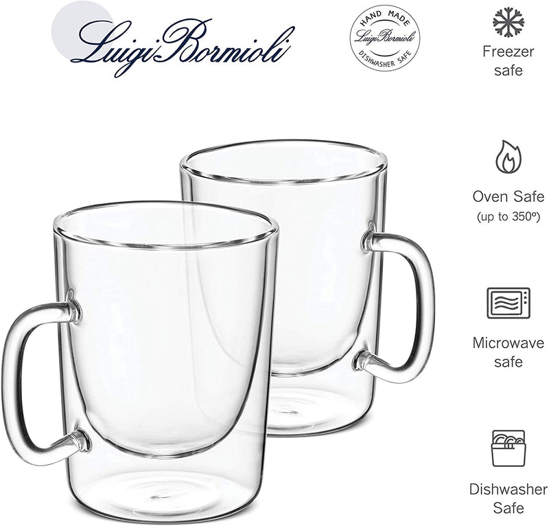 Double Walled Glass Coffee Mugs - 10¼ Ounce (2 Pack) - Finedine | The Best And Beyond
