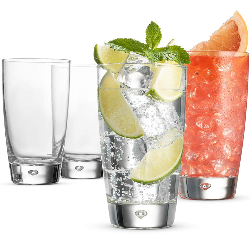 Italian Drinking Glasses - 15 Ounce Water Glass (Set of 4) Mojito Glasses - Finedine | The Best And Beyond