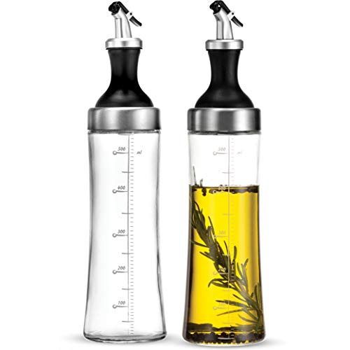 Superior Glass Oil and Vinegar Dispenser, (set of 2) 18 Oz. Cruet Set - Finedine | The Best And Beyond