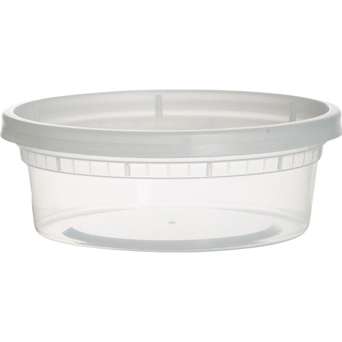 Clear Deli Food Containers with Lids 8 OZ 40 Pack - Finedine | The Best And Beyond