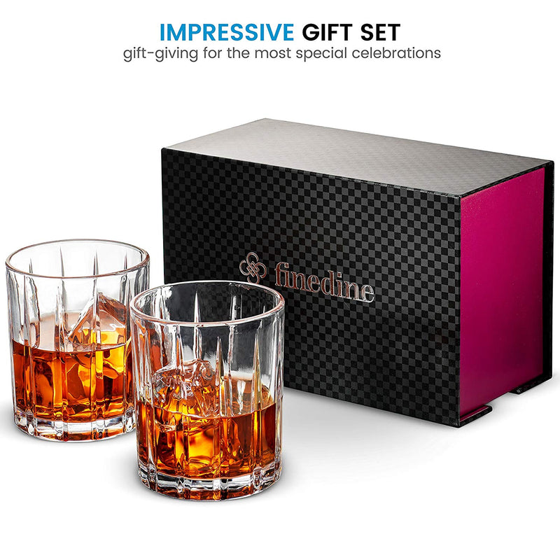 European Style Cocktail and Whiskey Glass (8 oz)  Set of 2 - With Magnetic Gift Box - Finedine | The Best And Beyond