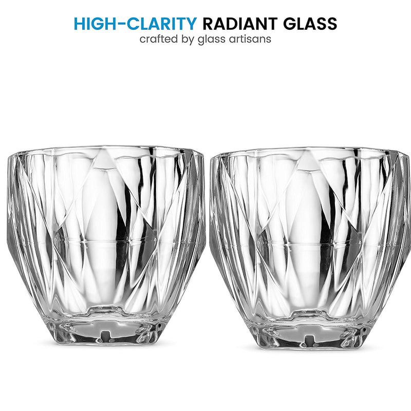 European Style Cocktail and Whiskey Glass Set of 2 - With Magnetic Gift Box - Finedine | The Best And Beyond