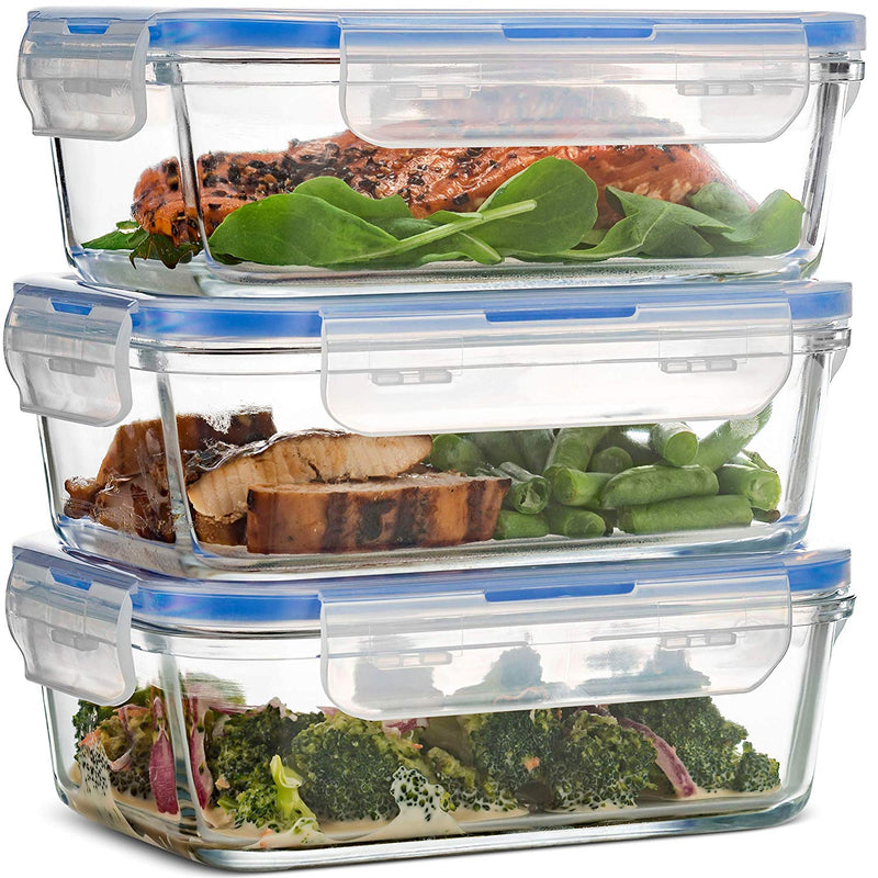 Superior Glass Meal Prep Containers - 3-pack (28oz) - Finedine | The Best And Beyond
