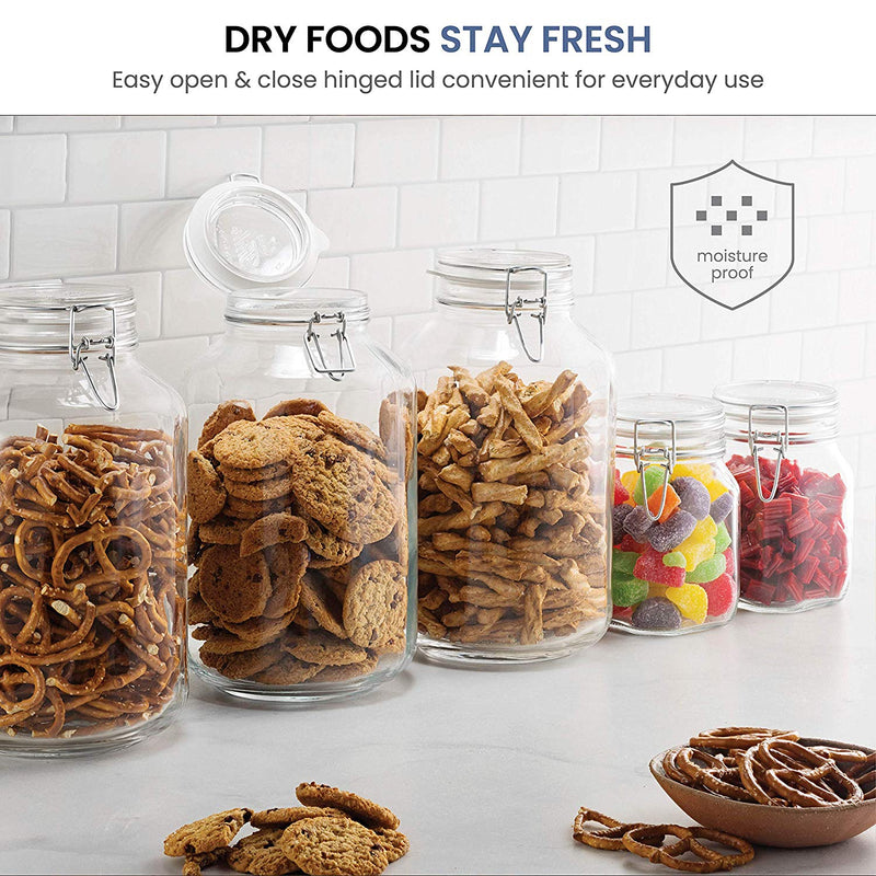 Glass Fido Jars - 135¼ Ounce (4 Liter) With Airtight lid (2 Pack) - Finedine | The Best And Beyond