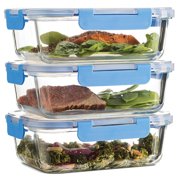 Superior Glass Meal Prep Containers - 3-pack (35oz) - Freezer to Oven Safe Lunch Containers - Finedine | The Best And Beyond