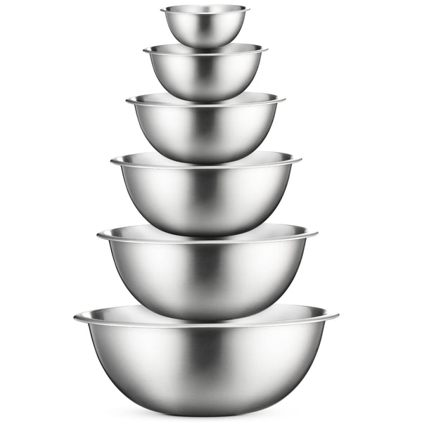 Premium Stainless Steel Mixing Bowls (Set of 6) - Finedine | The Best And Beyond
