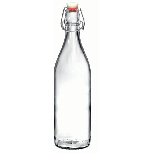 Bormioli Rocco Giara Clear Glass Swing Top Bottle, Set of 6 [Kitchen] - Finedine | The Best And Beyond