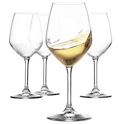 Restaurant White Wine Glasses Set of 4 | Dishwasher Safe | 15 oz - Finedine | The Best And Beyond