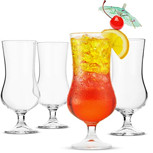 Beer Glasses Tulip Shaped - 17 Ounce Pina Colada Glass, (4 Pack) - Finedine | The Best And Beyond