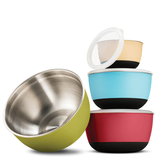 Multicolor Stainless Steel Mixing Bowls - 4 Piece Set