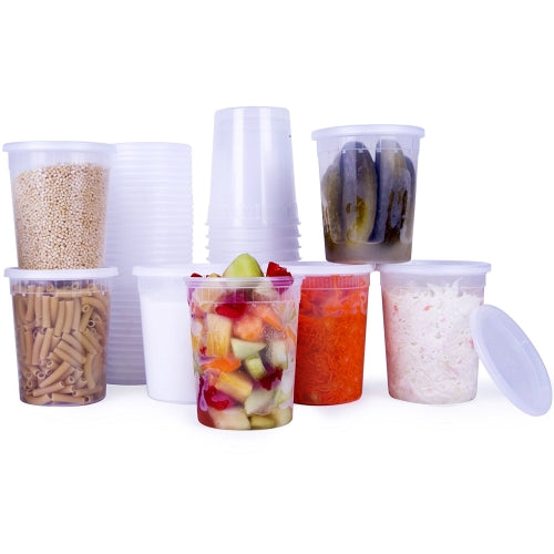 Clear Deli Food Containers with Lids 32 OZ 24 Pack - Finedine | The Best And Beyond