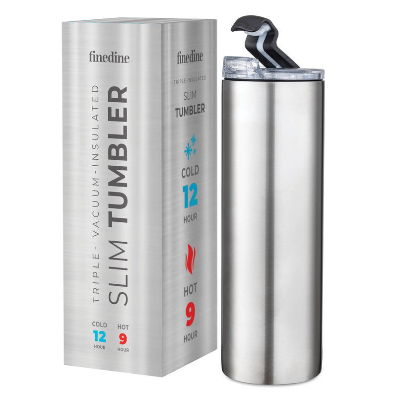 Stainless Steel 18 Oz. Water Bottle with Flip Top Lid; Vacuum Insulated Tumbler, Hot 'n Cold