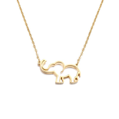 Collier inox elephant