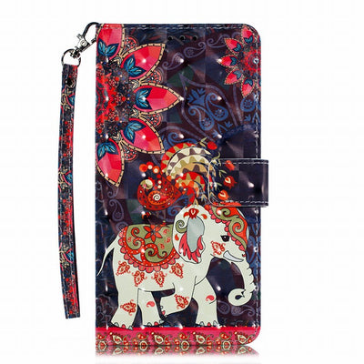 Etui de protection telephone Huawei elephanteau indien dessine