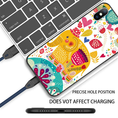 Coque de protection éléphants silicone iPhone