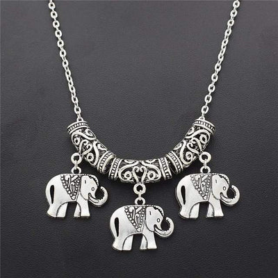 Collier elephant sautoir de style antique