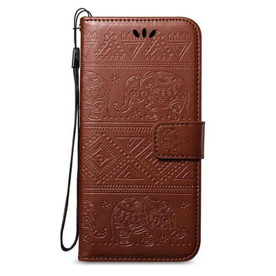 Etui de protection Huawei elephant mandala marron