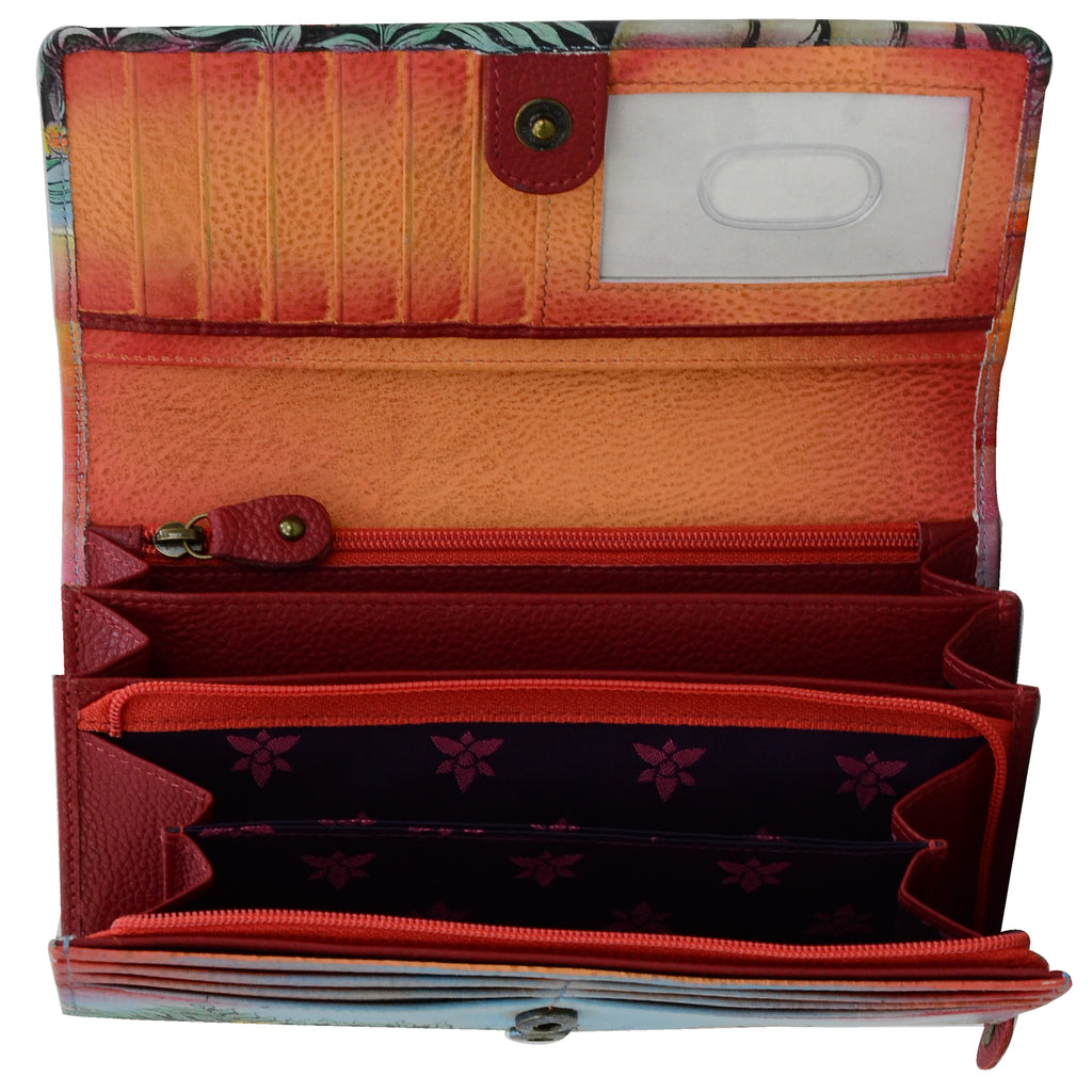 1112 Lighthouse Full Grain Leather Accordion Flap Wallet