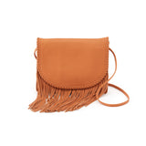 Women's Breezy Full Grain Leather Casual Handbag With Fringe