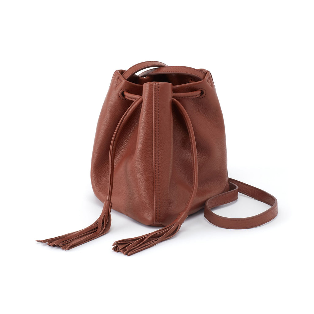 Women's Sander Leather Casual Crossbody Drawstring