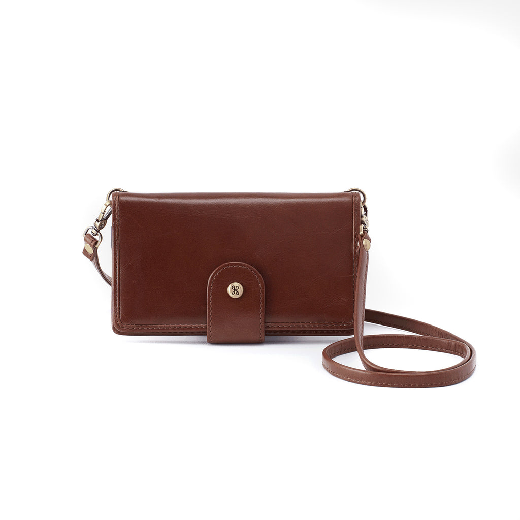 Women's Apollo Full Grain Leather Casual Crossbody Wallet