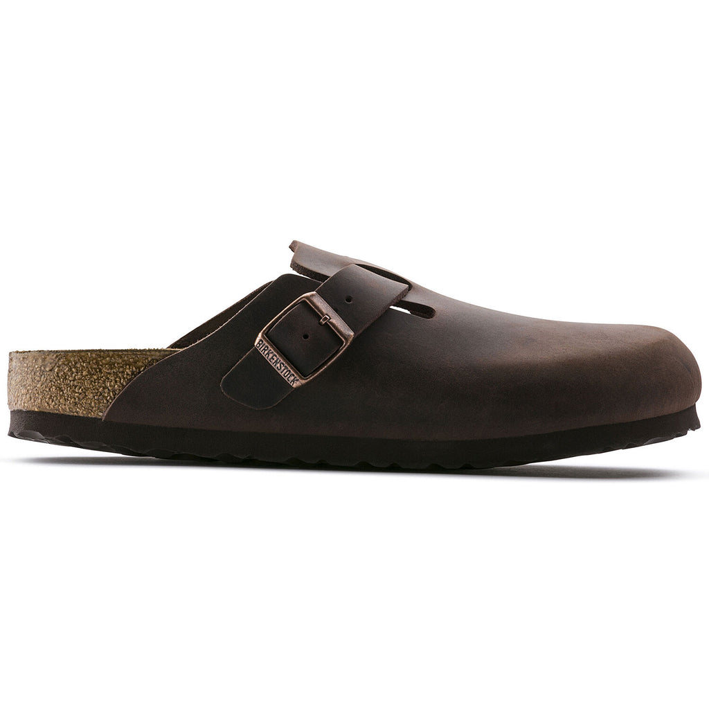 Unisex Boston Oiled Leather Clog