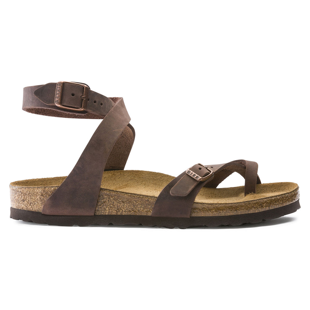 Women's Yara Ankle Strap Oiled Leather Sandal