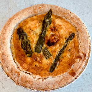Asparagus quiche (for one)